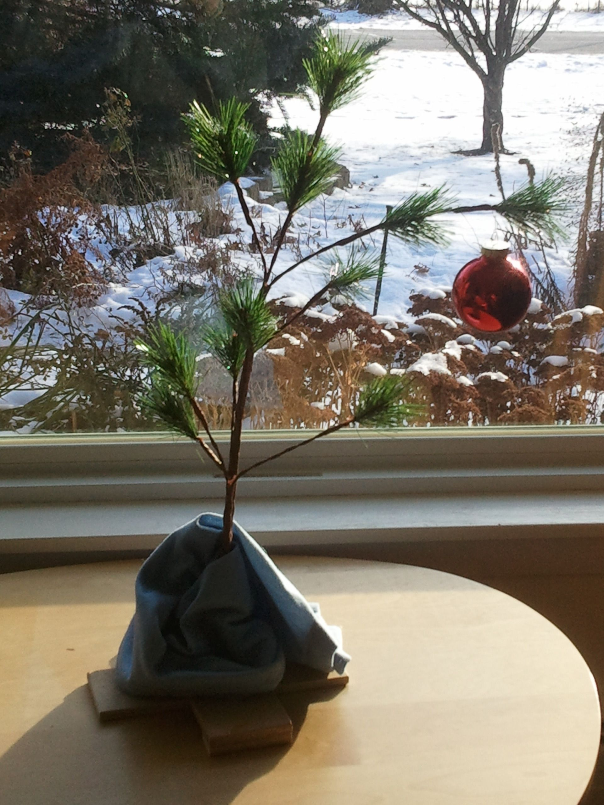 Image of a Charlie Brown Christmas tree